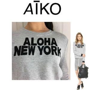 "NEW AIKO ""Aloha New York"" Giacomo Sweatshirt"